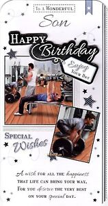 Image Is Loading New Son Birthday Card Various Designs Quality FREE
