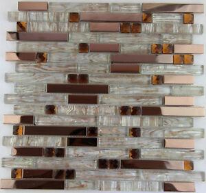 11PCS-stainless-steel-metal-mosaic-glass-tile-kitchen-backsplash-decorative-wall