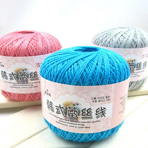 Hot-50g-Ball-Thread-Crochet-Hand-Knitting-Lace-Cotton-Crochet-Trim-DIY-Baby-Yarn