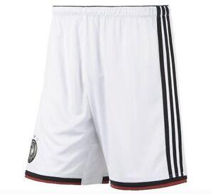 Adidas-Hombre-Alemania-DFB-Equipo-Nacional-Pantalones-de-Cortocircuitos-Blanco