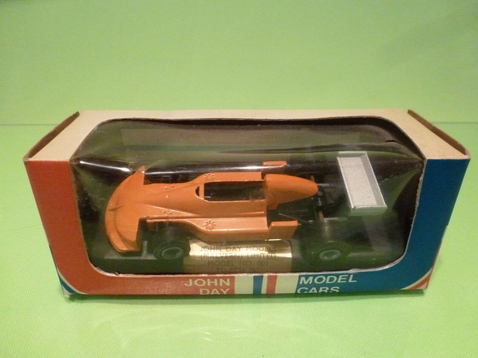 JOHN DAY MODELS 001 MARCH 761- VITTORIO BRAMBILLA - F1 orange 1 43 - GOOD IN BOX