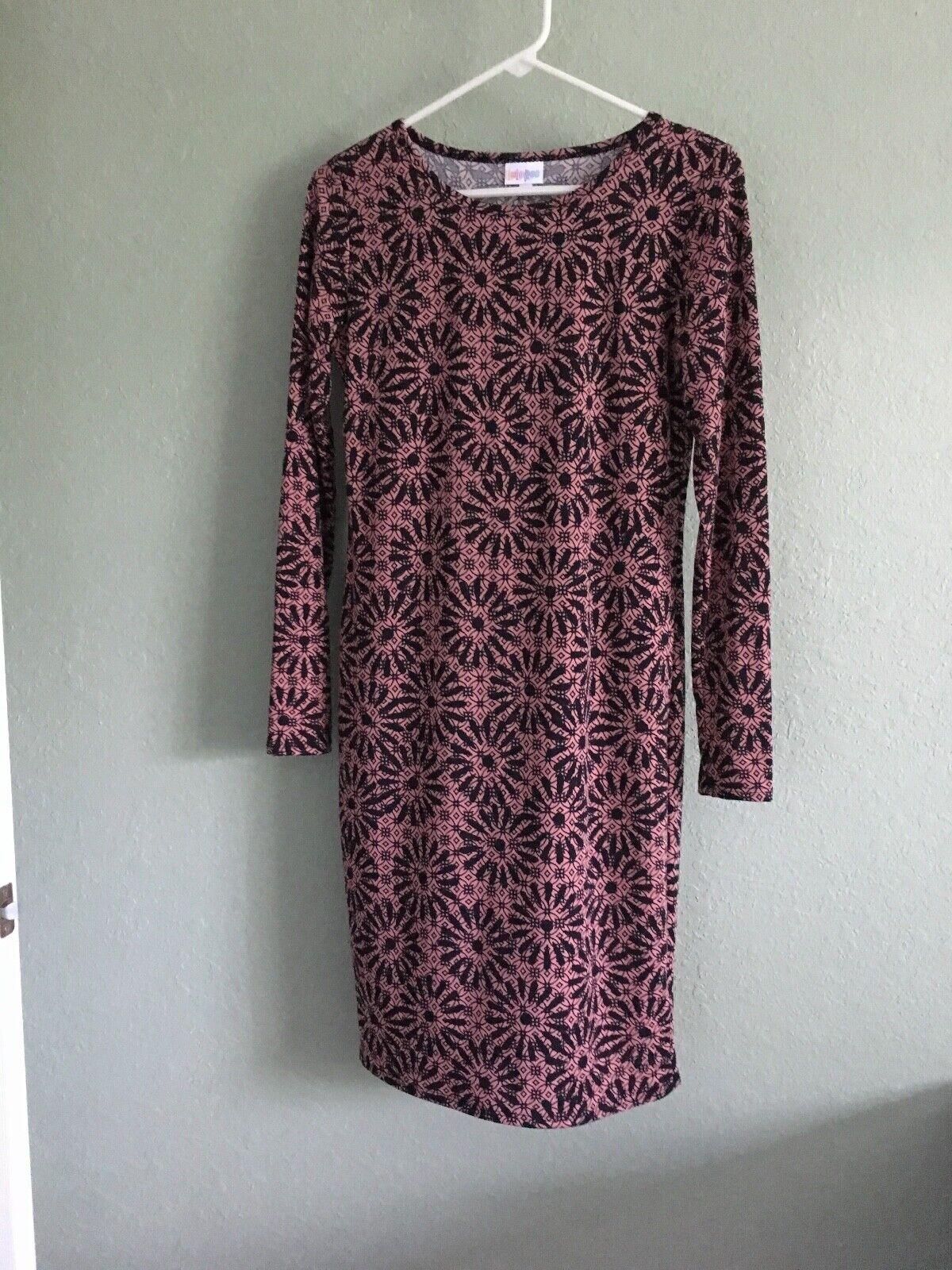 NEW Women's  Floral Print LULAROE Debbie Bodycon Soft Knit Dress Size S