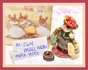 ❤️Wee Forest Folk M-264 Mall Mom Mouse THE MOLE HOLE Retired Green Taupe❤️