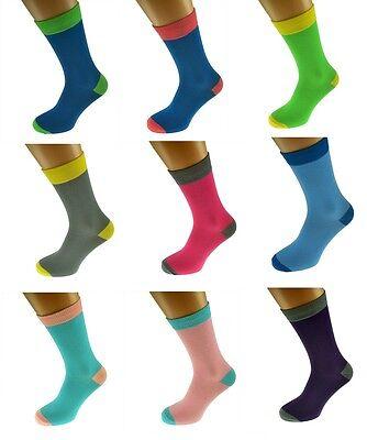 2017 Mens & Women Plain 2tone Colour Soft Cotton Ankle Socks Uk 5-12 X6tc001-11 GläNzend