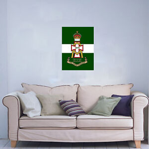 GREEN-HOWARDS-CAP-BADGE-PRINTED-ON-A-12-X-16-INCH-CANVAS-READY-TO-HANG