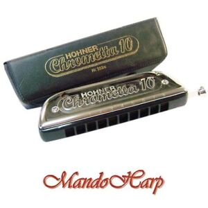 Hohner-Chromatic-Harmonica-253-40-Chrometta-10-10-hole-40-reed-Key-of-C-NEW
