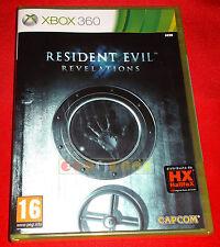 RESIDENT EVIL REVELATIONS 1 XBOX 360 Versione Italiana 1ª Edizione ○ NUOVO