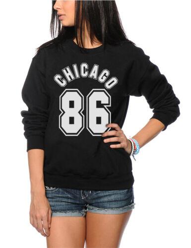 Streetwear Hipster Youth /& Womens Sweatshirt Chicago 86