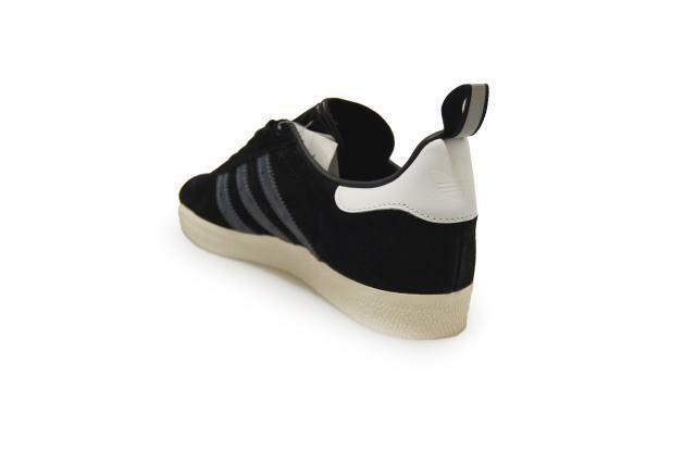 Mens Adidas Gazelle  - S76224 - Black White Trainers