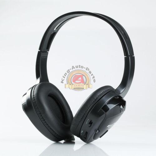 Single Dual channel IR Infrared headphone Road Rage Headphone Black Lightweight