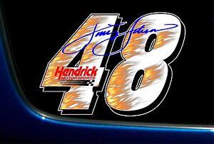 "JIMMIE JOHNSON 48 HENDRICK MOTORSPORTS PRINTED VINYL DECAL STICKER NASCAR 6 x 9"""