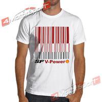 Classic Barcode F1 Racing Soft Cotton T-shirt Marlboro Formula 1 Rally Wrc
