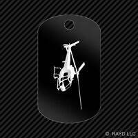 Flying Eurocopter As350 Helicopter Keychain Gi Dog Tag Engraved Many Colors