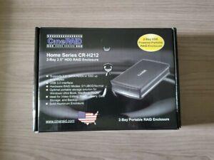 """CineRAID CR-H212 2-Bay 2.5"""" Hard Drive HDD SSD Sata RAID Enclosure JBOD Portable"""