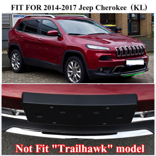 Chrome Front/&Rear Lower Bumper Protector Lid Cover Trim For Jeep Cherokee 14-18