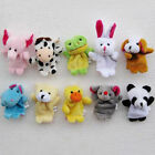 For Bed Story Telling Zoo Farm Animal 10pcs Finger Puppets Plush Cloth Baby Toys