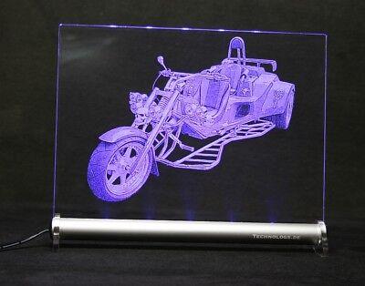 Trike    Foto-Gravur LED-Schild  Acryl-Leuchtschild