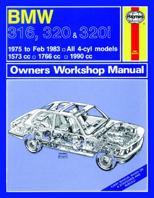 haynes car manual 0276 bmw 316 320 320i 4 cyl workshop repair book rh ebay com BMW 316I BMW 316 2014