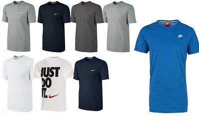 Homme Neuf Nike Gym Sports T Shirt Rétro Logo Nike Haut à encolure ras du Cou Tee S M L XL XXL | eBay