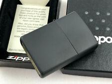 ZIPPO schwarz matt / black matte Feuerzeug Das Original - 60001320