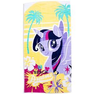 Officiel-My-Little-Pony-Crush-Twilight-Scintillant-Coton-Doux-Serviette-140cm-X