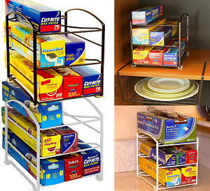 Details about Kitchen Wrap Storage Food Foil Holder Wax Paper Organizer  Pantry Cabinet Shelf