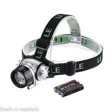 Strap On LED Headlamp Head Lamp Hat Gear Flashlight Flash Light Camping Fishing