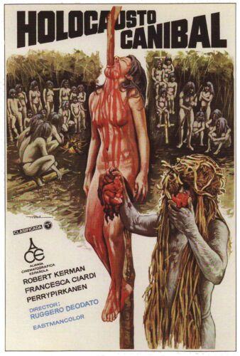 Art Canvas Poster CANNIBAL HOLOCAUST Movie Italian Horror 12x18 24x36in F-144
