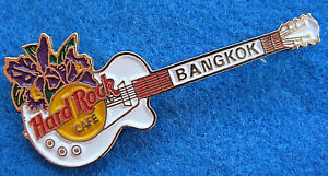 Bangkok-Violet-Thai-Orchidee-Hard-Rock-Cafe-Blanc-Gibson-les-Paul-Guitare-Broche