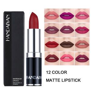 12Couleurs-Waterproof-Longue-Duree-Mat-Rouge-a-Levres-Beaute-Maquillage-Lipstick