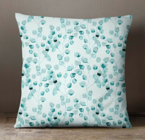S4Sassy Indian Decorative Teal Green Pillow Cover Leaf Sofa Pillow Case Throw
