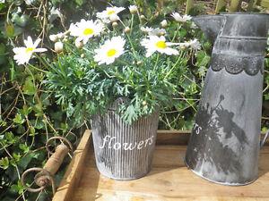 VASO-HENRIETTE-20-cm-Vaso-da-fiori-metallo-vintage-stile-antico-vaso