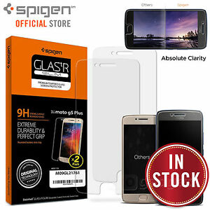 Moto-G5-Plus-Screen-Protector-Genuine-SPIGEN-GLAS-tR-9H-Slim-Tempered-Glass-2PCS