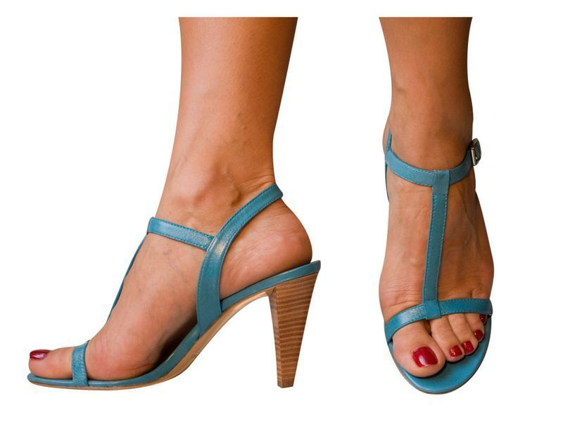 Hot NIB T-strap MARC JACOBS Blau open-toe T-strap NIB Sandales heels schuhe c3fdc3