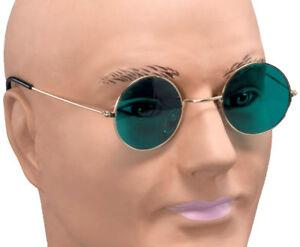Verde-OZZY-Hippy-Hippy-Anos-60-ANOS-70-Redondo-Lennon-espf-Disfraz-Gafas