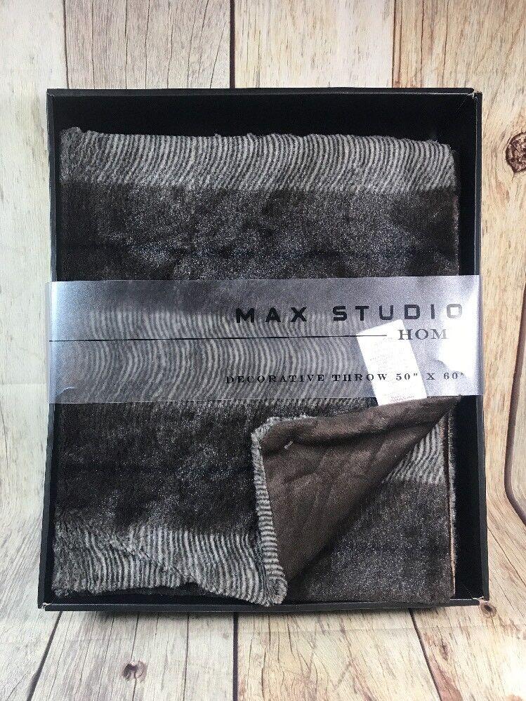 NEW MAX STUDIO DECORATIVE THROW BLANKET HOME SOFT 50 X 60 Brown