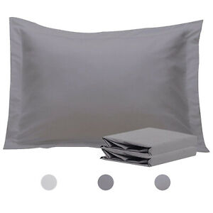 NTBAY-Standard-Queen-King-Pillow-Shams-Set-of-2-Grey-Pillow-Case-Cover