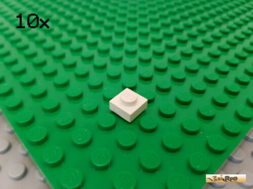 LEGO 4081b Platte 1x1 mit Öse Ring Weiß Schwarz Grau Blau Gelb Rot