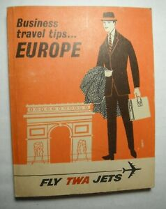 TWA Business Travel Tips Europe 1966 Edition 216 Pages Vintage Maps Hotel Prices