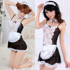 Fashion-Women-039-s-Costume-Cosplay-French-Maid-Princess-Outfit-Fancy-Dress-Neue