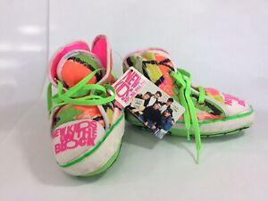 New-Kids-on-the-Block-NKOTB-1990-High-Top-Sneaker-Slippers-Fluorescent-W-Tag-L