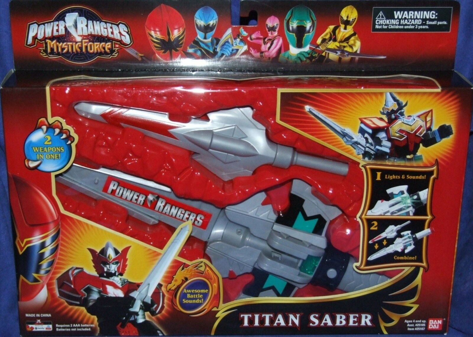 Power Rangers Mystic Force TITAN SABER New Electronic 14