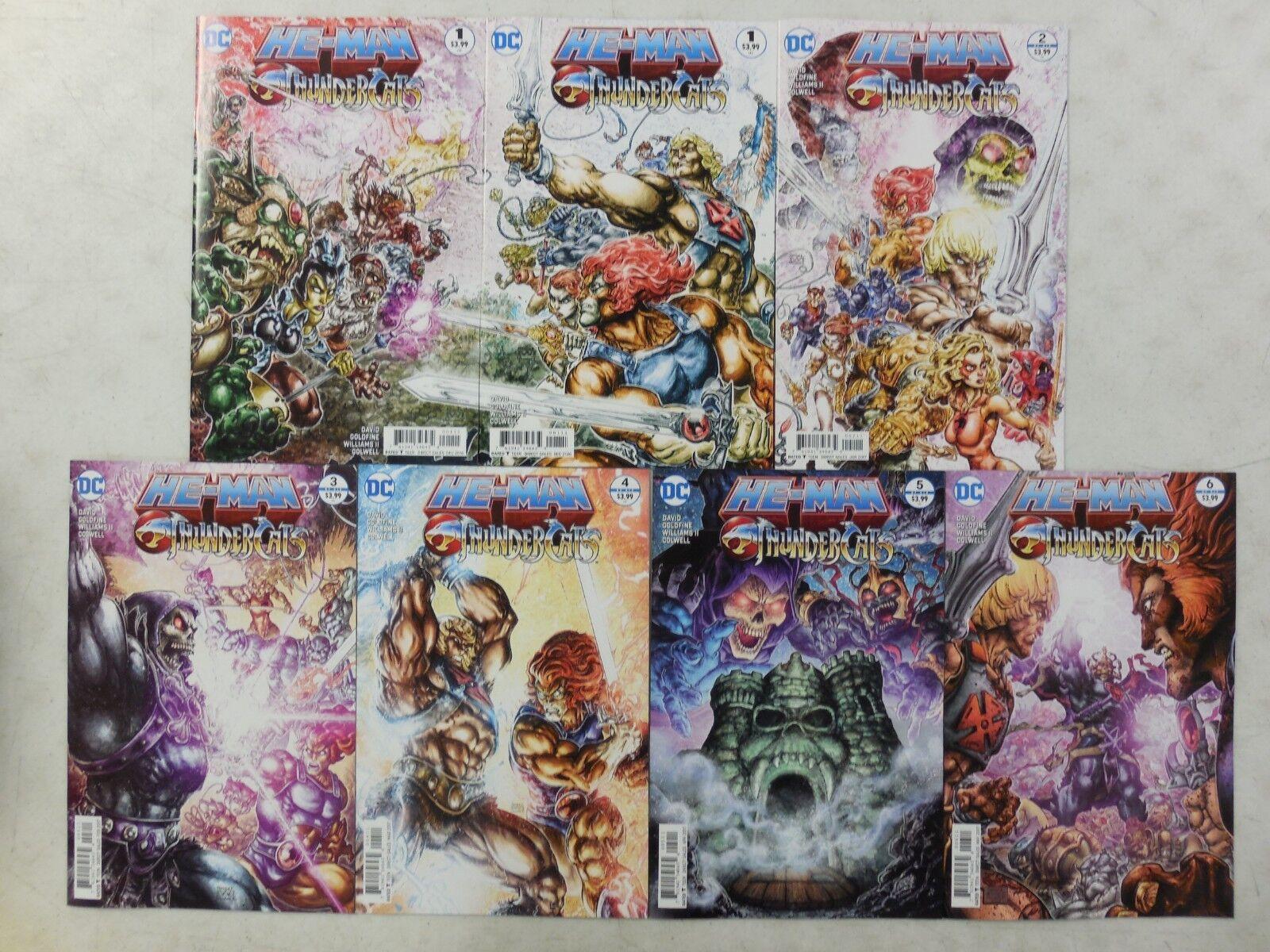 7x HE-MAN / THUNDERCATS Comic Set   1 (x2) Connecting Covers 2 3 4 5 6  MOTU