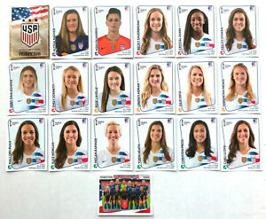 SET 2019 UNITED STATES USA Soccer Panini Sticker Womens World Cup Morgan Lavelle