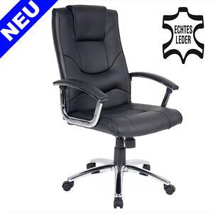 Leder Bürosessel Büro Chefsessel Schreibtischstuhl Office Drehstuhl