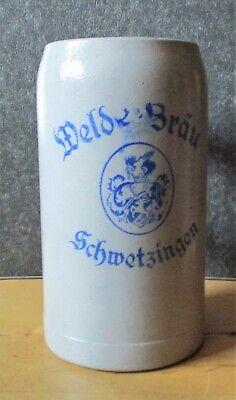 Bierkrug - Welde Bräu Schwetzingen - 1,0 Ltr. (seltenes Sammlerstück) Produkte Werden Ohne EinschräNkungen Verkauft