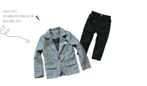 Kids Boys Blazer Jacket Suit Set Formal Prom Suits Wedding Party Pageboy Outfits
