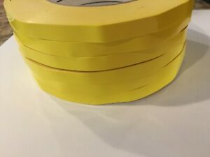 Poly Bag Sealer Tape with Dispenser 3//8 Inch x 110 Yards White Color 3 Rolls