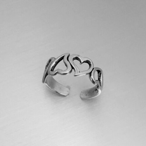 Heart Ring Silver Rings Sterling Silver Four Hearts Toe Ring