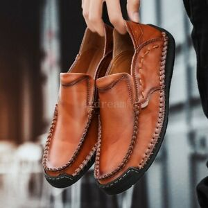 Men/'s Driving Shoes Loafers Flats Leather Shoes Casual Cowhide Moccasins Slip-On